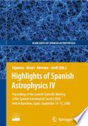Highlights Of Spanish Astrophysics Iv Book PDF