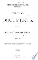 Official Documents, Comprising the Department and Other Reports