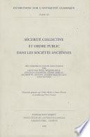 S  curit   Collective Et Ordre Public Dans Les Soci  t  s Anciennes Book