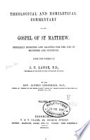 Theological And Homiletical Commentary On The Gospel Of St Matthew And St Mark