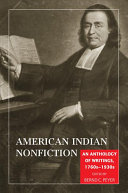 American Indian Nonfiction