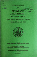Proceedings   Maryland Nutrition Conference for Feed Manufacturers