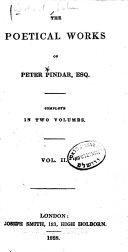 Poetical Works of Peter Pindar