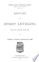 Results of Spirit-leveling, Fiscal Year 1900-'01