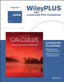 Cover of Calculus: Single and Multivariable