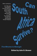 Can South Africa Survive? Pdf/ePub eBook