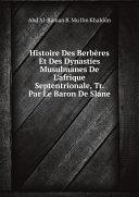 Pdf Histoire Des Berb?res Et Des Dynasties Musulmanes De L'afrique Septentrionale, Tr. Par Le Baron De Slane Telecharger