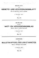 Beiblatt zum Gesetz- und Verordnungsblatt für die Okkupierten gebiete Belgiens