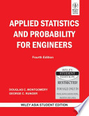 APPLIED STATISTICS AND PROBABILITY FOR ENGINEERS, 4TH ED