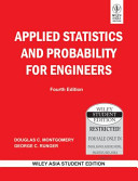 APPLIED STATISTICS AND PROBABILITY FOR ENGINEERS  4TH ED