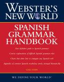 Pdf Webster's New World: Spanish Grammar Handbook Telecharger
