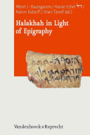 Halakhah in Light of Epigraphy