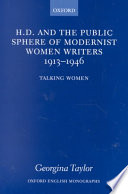 H D And The Public Sphere Of Modernist Women Writers 1913 1946