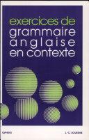 Exercices de grammaire anglaise en contexte