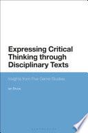 Expressing Critical Thinking through Disciplinary Texts