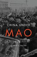 Pdf China Under Mao
