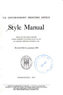 Style Manual     Revised Edition  January 1973