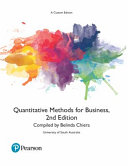 Cover of Quantitative Methods for Business (Custom Edition)