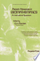 Recent Advances In Geomathematics An International Symposium