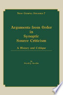 Arguments from Order in Synoptic Source Criticism