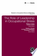 The Role of Leadership in Occupational Stress Book
