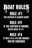 Boat Rules Rule  1 the Captain Is Always Right Rule  2 If the Captain Is Wrong