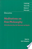 Descartes  Meditations on First Philosophy Book PDF