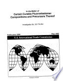 Certain Curable Fluoroelastomer Compositions Inv 337 Ta 364