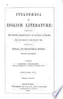 Cyclopedia of English Literature Book
