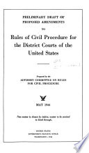 Report of Proposed Amendments to the Rules of Civil Procedure for the U.S. District Courts