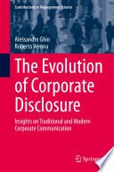The Evolution of Corporate Disclosure