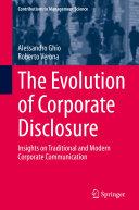 The Evolution of Corporate Disclosure Pdf/ePub eBook