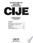 Current Index to Journals in Education  : CIJE. , Band 32,Ausgaben 10-12