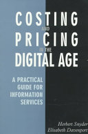 Costing and Pricing in the Digital Age
