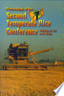 Proceedings Of The Second Temperate Rice Conference