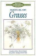 Manual of Grasses