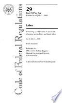 Code of Federal Regulations Book