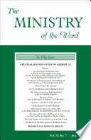 The Ministry Of The Word Vol 21 No 7