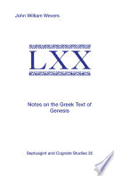 Notes On The Greek Text Of Genesis