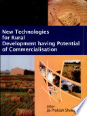 New Technologies For Rural Development Having Potential Of Commercialisation Book PDF