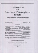 Pdf Proceedings, American Philosophical Society (vol. 97, no. 4)