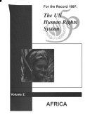 For the Record 1997   the UN Human Rights System  Africa Book