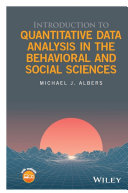 Introduction to Quantitative Data Analysis in the Behavioral and Social Sciences