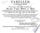 Tabeller som bestämma förhållandet emellan Sveriges och andre länders mynt, vigt, mått och mål, grundade på Sir Isaac Newtons, Kruses, Ludovici och Savary's m. fl. uppgifter hvad äldre mynt, vigter och mått beträffar samt på Lacroix's : bestämmelser hvad de nyare angår, hvilka uppkommit i Europa under och efter revolutionen, samt alla dessas förhållande till det nya franska decimal- systemet, jemte antydan af enkla reductions-sätt uti svenska mått och mål, både uti : de gamla brukliga, och de nya decimala när de blifva antagne