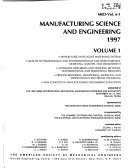 Manufacturing Science and Engineering Book