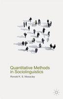Quantitative Methods in Sociolinguistics