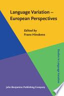 Language Variation European Perspectives
