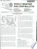 Weekly Weather and Crop Bulletin