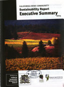 California Wine Community Sustainability Report, 2004