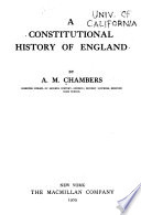 A constitutional history of England